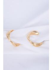Серьги полукольца SER-21408 Золотистый