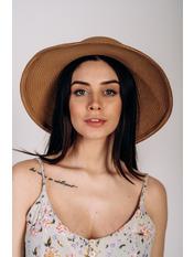 Шляпа слауч SHL-2045 Коричневый Песочный