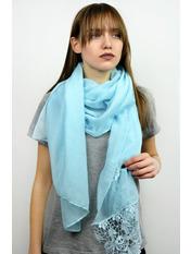 Шарф Есения 180*65 Голубой Светло-голубой