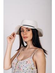 Шляпа канотье SHL-1800 Белый 56-58