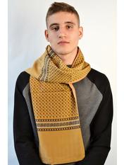 Чоловічі шарфи 274 (32А) Коричневый 125*28 Капучиновый