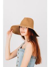 Шляпа широкополая Доминика Коричневый Шоколадный 54-56