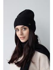 Комплект шапка и шарф KSH-4970 Черный one size