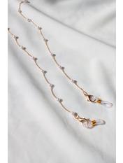 Ланцюжок для окулярів AKS-5844 999 Жемчуг золотой Белый