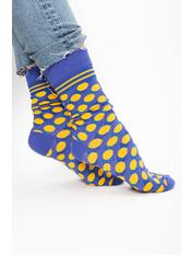 Носочки Джудит Голубой 36-41 Голубой+желтый