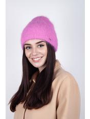 Шапка Хельга Розовый one size Темно-розовый