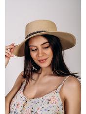 Шляпа канотье Джина Бежевый 57 Бежевый