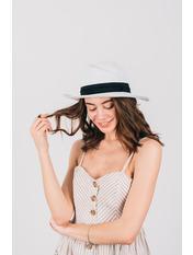 Шляпа федора Жаслин Белый 54-56