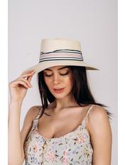 Шляпа федора Сарон Молочный 57 Молочный