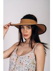 Широкополая шляпа SHL-4676 Коричневый Капучиновый