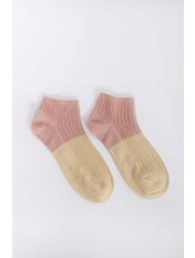 Носочки Терил Розовый 36-39 Пудровый+желтый