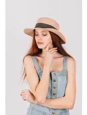 Шляпа канотье Мэнлайо Розовый Пудровый 54-56