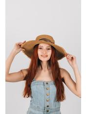 Шляпа широкополая Альда Капучино Капучиновый 54-56