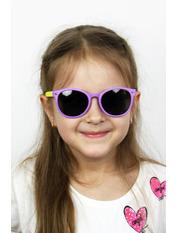 Солнцезащитные детские очки Фауна Общая ширина 13.0(см)/ Высота линзы 4.0(см)/ Ширина линзы 4.5(см) Фиолетовый Фиолетовый