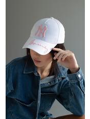 Бейсболка BK-4876 Бело-розовый 55-56 Белый