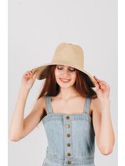 Шляпа широкополая Доминика Бежевый Песочный 54-56
