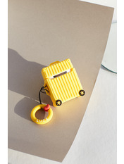 Чохол для навушників Чемоданчик колесами one size one size Желтый