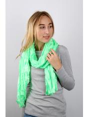 Шарф Косичка однотонный 170*50 Зеленый Светло-зеленый