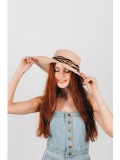 Шляпа широкополая Альда Розовый Пудровый 54-56