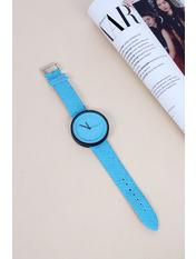 Женские часы Гвинет Длина 22.5(см)/ Ширина 1.9(см) Голубой Голубой