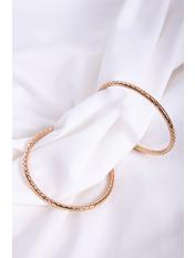 Серьги кольца SER-21351 Золотистый