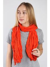 Шарф Косичка однотонный 170*50 Оранжевый Терракотовый