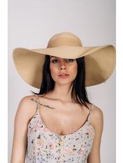 Шляпа широкополая Полин Бежевый 57