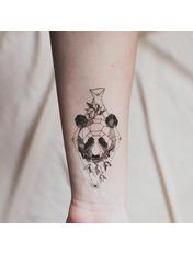 Бодиарт Геометрическая панда Черный Черно-белый