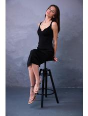Платье PLA-28020 Черный one size