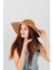 Шляпа широкополая Медея Капучино Капучиновый 54-56