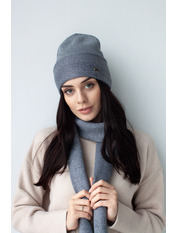 Комплект шапка и шарф KSH-4970 Серый one size Темно-серый