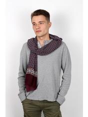 Чоловічий шарф Кастор 160*30 Фіолетовий Фіолетовий