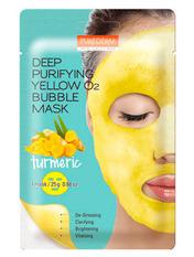 Маски для лица тканевая Purederm 25 г Deep Purifying Green O2 Bubble c экстрактом куркумы
