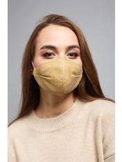Маска защитная для лица Шайн Золотистый one size