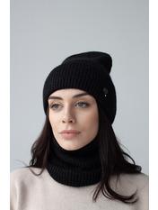 Комплект шапка и баф Гермиона Черный one size Черный
