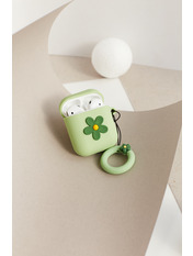 Чехол для наушников Apple Цветок one size Зеленый Зеленый