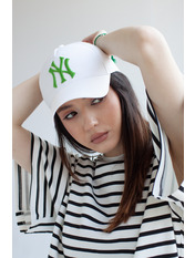 Бейсболка NewYork Белый 57-58 Бело-зеленый