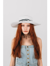 Шляпа широкополая Альда Белый 54-56