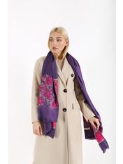 Шарф Анхель 185*71 Фиолетовый Фиолетовый