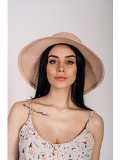 Шляпа слауч SHL-2045 Розовый Пудровый
