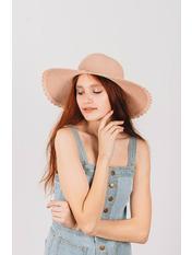 Шляпа широкополая Лорри Розовый Пудровый 54-56