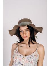 Шляпа широкополая Кассандра Коричневый Коричневый 56