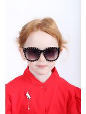 Солнцезащитные детские очки 651 Общая ширина 13(см)/ Высота линзы 5.2(см)/ Ширина линзы 5.5(см) Черный Черный