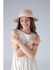 Шляпа канотье SHL-1792 Розовый Пудровый 57