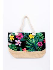 Пляжная сумка SYM-4100 Черный+зеленый Черный 52*37*15
