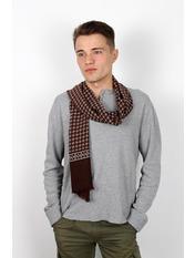 Чоловічий шарф Кастор 160*30 Коричневий Темно-коричневий