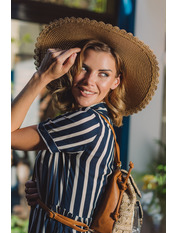 Шляпа широкополая Лорри Бежевый Песочный 54-56