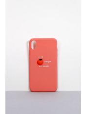 Чехол для iPhone Фрукты XS Max Розовый Темно-пудровый