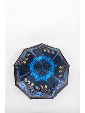 Зонт Унита Черный+голубой 115*57*32 Черный