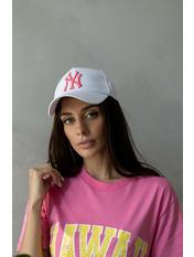 Бейсболка BK-5069 Белый 57-58 Бело-розовый